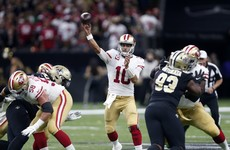 Drama at the death as Garoppolo-inspired 49ers down Saints in thrilling encounter