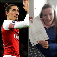 'I was in college and my Dad rang me saying, 'There's a letter from Arsenal here''