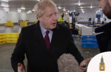 Boris Johnson pockets journalist's phone instead of looking at photo of child sleeping on hospital floor