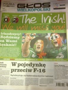 Wow, Poznan is really sorry to see all those Irish fans leave