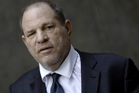 Harvey Weinstein leaving the court hearing yesterday.
