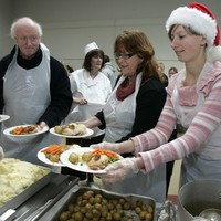 500 poor and homeless people will be given a Christmas dinner at the RDS today