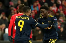 Late Arsenal rally sees them score twice in three minutes to secure Europa League top spot