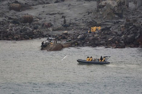 Rescue workers at the scene.