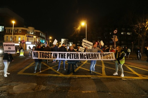 Number of streets closed in Dublin city centre due to housing protest