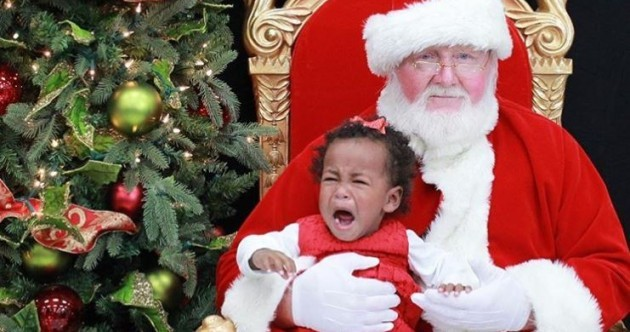 One for the mantelpiece? 6 priceless photos of kids meeting Santa