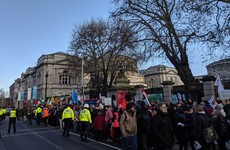Three arrested after anti-racism and free speech protests outside Leinster House
