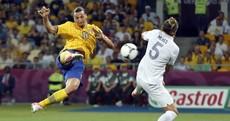 This Zlatan Ibrahimovic scissor-kick might be the goal of Euro 2012