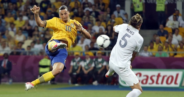 This Zlatan Ibrahimovic scissor-kick might be the goal of Euro 2012