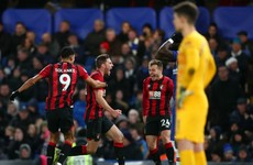 Late Gosling strike for Bournemouth downs Lampard's Chelsea