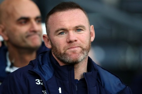 Derby County player-coach Wayne Rooney.