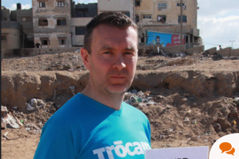 Oisín McConville travelled to the Occupied Palestinian Territories with Trócaire to highlight their Christmas Appeal, which will help to support families who are living in conflict zones around the world.