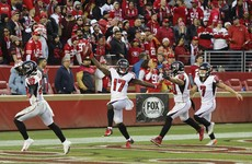 Falcons shock 49ers, Bills clinch playoff spot