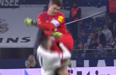 Schalke boss insists goalkeeper's shocking red card challenge wasn't intentional