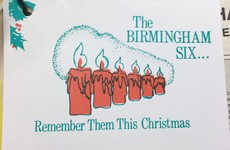 The Christmas cards sent to Haughey asking him not to forget The Birmingham Six