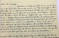 The 1989 letters exchanged between a Birmingham Six prisoner and Charlie Haughey