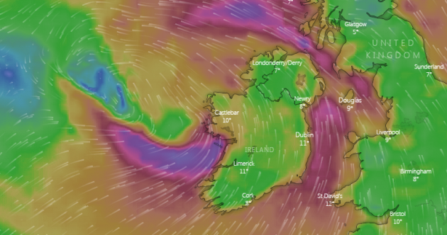 Status Orange wind warning for two counties as west to be hit with gusts of up to 120km/h