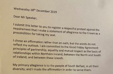 New SDLP MP writes letter to Commons speaker protesting against oath of allegiance to the Queen