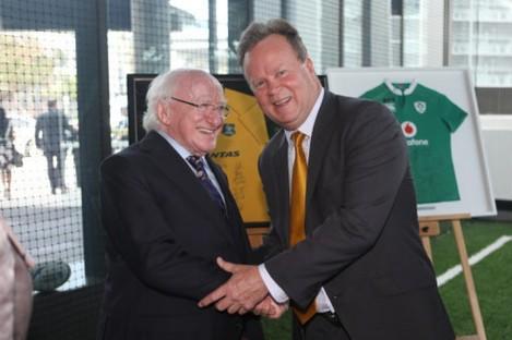 President Michael D Higgins during a trip to Australia.