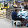 Piano at Pearse Station restored to former glory following 'mindless vandalism'