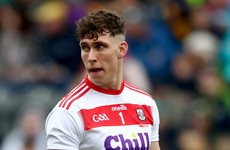 Cork will be without first-choice goalkeeper for 2020 campaign