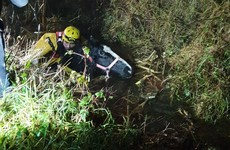 Longford emergency services rescue horse trapped in bog drain