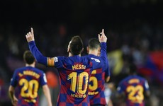 Messi rings up 50th goal in 2019 as Barca take top spot