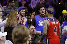 Isaiah Thomas ejected from game for confronting fan who wanted free dessert