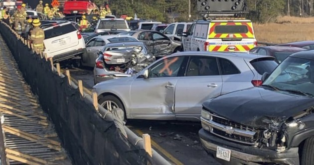 Dozens injured in 69-car pile-up on motorway in US state of Virginia