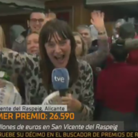 TV reporter apologises over her reaction to winning in Spain's bumper Christmas lottery
