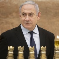 Benjamin Netanyahu forced to take shelter at rally after rocket launched from Gaza strip