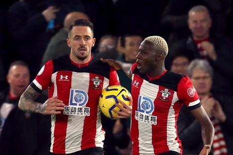 Southampton's Danny Ings celebrates scoring.