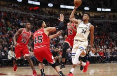 NBA MVP Giannis posts double-double on Bucks return from injury