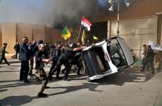 Protesters storm US embassy in Baghdad chanting 'Death to America'
