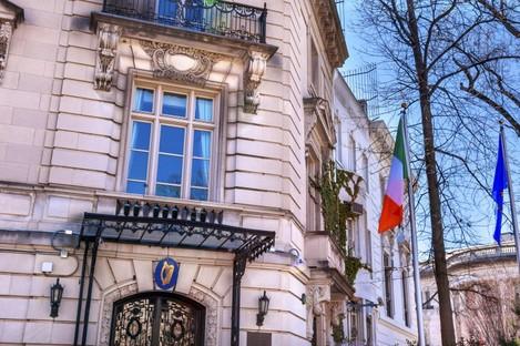 Irish embassy in Washington, USA.