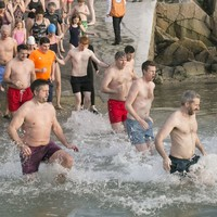 PHOTOS: These brave souls took to the sea for a New Year's Day swim
