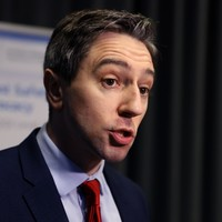 Simon Harris said he was 'appalled' by protesters outside the National Maternity Hospital today