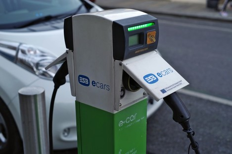 File photo of a changing station for electric cars in Dublin.