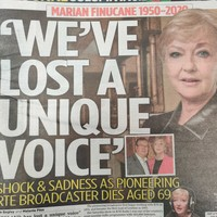 'We've lost a unique voice': Newspapers pay tribute to Marian Finucane
