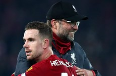 Klopp lauds 'exceptional' Henderson after Premier League leaders go a year without defeat