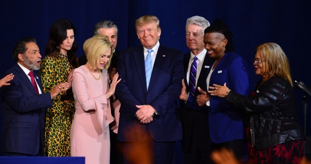 'Father, release his power' - Evangelical leaders pray for Donald Trump in Miami megachurch