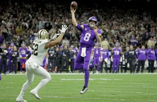 Kirk Cousins and underdog Vikings stun Saints in overtime
