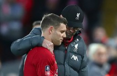 Milner injury 'does not look good' - Klopp