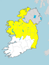 Wind warnings issued for 17 counties with gusts of up to 100km/h expected