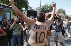Protest at pen of Kiev's prognosticating porker