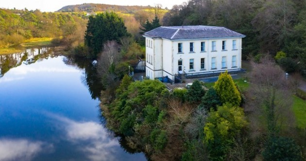 Lakeside estate on 45 acres with its own waterfall - yours for €1.85m