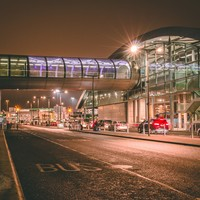 Two arrested after mini bus with passengers stolen from Dublin Airport and later crashed into PSNI vehicle
