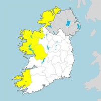 Today's Status Yellow rain warning extended to all of Connacht and Donegal