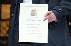 Ireland has no plans to follow the UK and introduce civil partnerships for opposite-sex couples