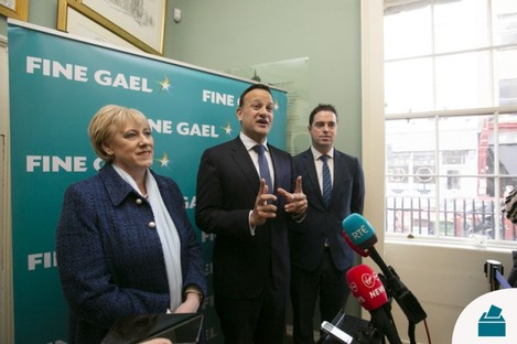 The Fine Gael parliamentary party meeting are meeting in Dublin today.